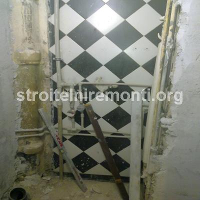 ремонт на баня - варова мазилка